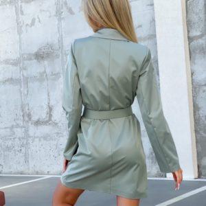 Купити за низькими цінами жіноче плаття-піджак з поясом (розмір 42-52) оливка