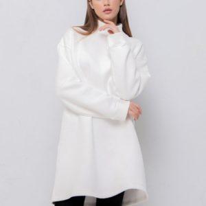 Заказать по скидке белое Заказать платье-тунику на флисе для женщин