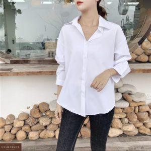 Заказать белую женскую рубашку с длинным рукавом (размер 42-48) по скидке