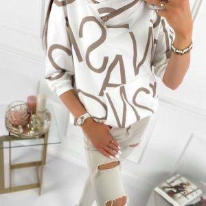 Купити за низькими цінами жіноче худі з трикотажу з буквами білого кольору