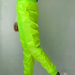 Приобрести салатовые штаны из плащёвки для женщин по скидке