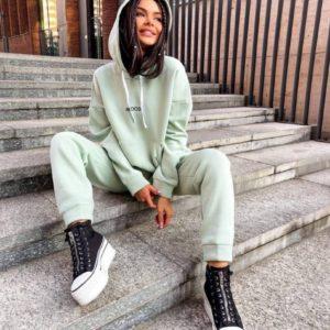 Купить оливка женский спортивный костюм Mood в Украине