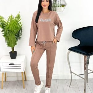 Купити зі знижкою мокко спортивний костюм Fashion (розмір 42-52) для жінок