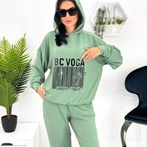 Замовити оливковий жіночий спортивний костюм зі штрих-кодом (розмір 42-52) в Україні