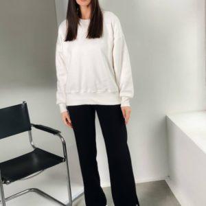 Купить белый женский спортивный костюм с разрезами (размер 42-48) в интернете