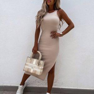 Заказать недорого беж платье из вискозы для женщин