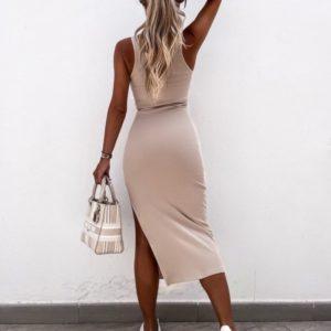 Купить онлайн беж платье из вискозы для женщин
