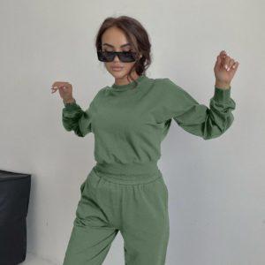 купить костюм оливкового цвета штаны + кофта с длинным рукавом по лучшей цене в магазине одежды Unimarket