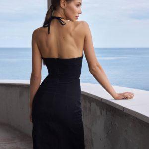 купить вечернее черное платье силует по лучшей цене от Unimarket
