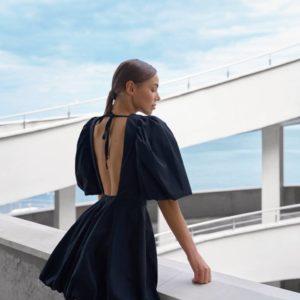 купить черное женское платье из котона по низкой цене онлайн