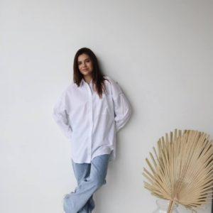 купить белую рубашку из хлопка по выгодной цене