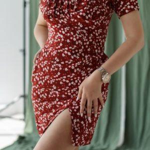 приобрести платье летнее женское с цветочным принтом по выгодной стоимости в Unimarket