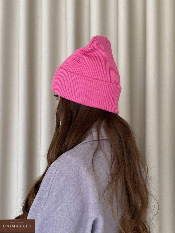 женская розовая шапка осенняя по скидочной цене в Unimarket