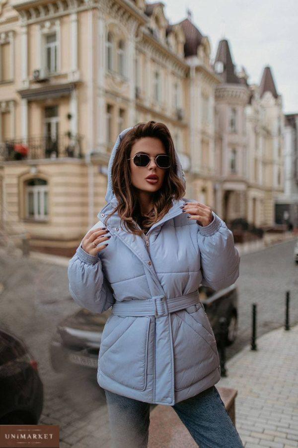 приобрести женскую куртку осень сиреневого цвета по выгодной стоимости со скидкой