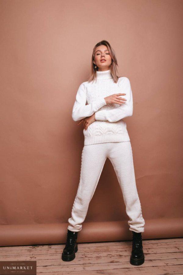 цельновязанный бесшовный женский облегающий костюм с штанами из осенней коллекции магазина Unimarket