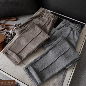 Купить серые брюки из шерстяного твида (размер 42-52) для женщин онлайн