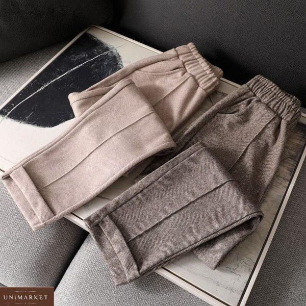 Купить по скидке мокко брюки из шерстяного твида (размер 42-52) для женщин
