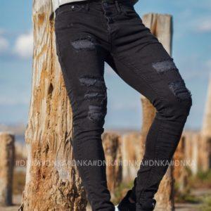 Купить мужские черные джинсы скинни по скидке