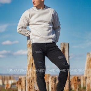 Заказать дешево черные джинсы скинни для мужчин