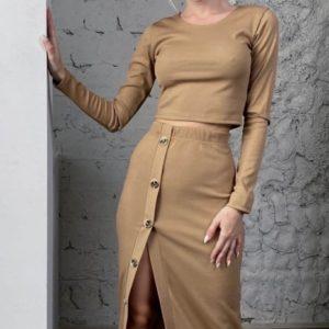 Заказать мокко женскую трикотажную кофту-топ (размер 42-56) в интернете