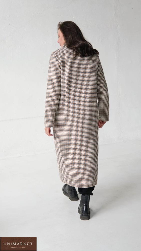 Приобрести дешево женское утепленное длинное пальто (размер 42-58) серое