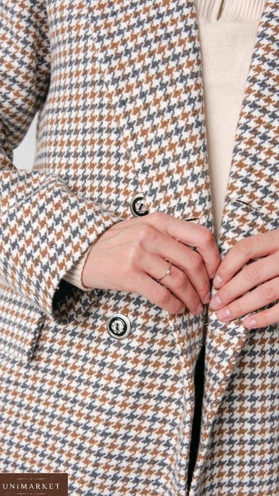 Заказать беж женское утепленное длинное пальто (размер 42-58) онлайн