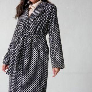 Замовити за низькими цінами жіноче утеплене пальто оверсайз (розмір 42-58) на осінь чорне