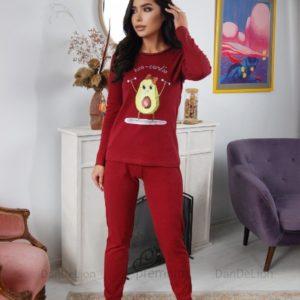 Приобрести выгодно марсала женскую пижаму с авокадо (размер 42-50)