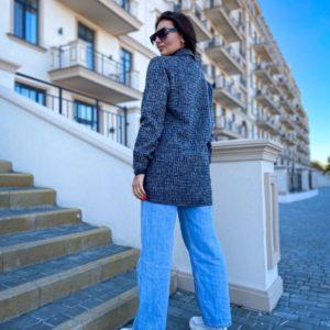 Заказать по скидке женскую теплую удлиненную рубашку (размер 50-56) серого цвета