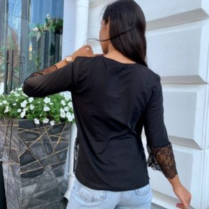 Заказать выгодно черную теплую кофту с нежными рукавами (размер 42-56) для женщин