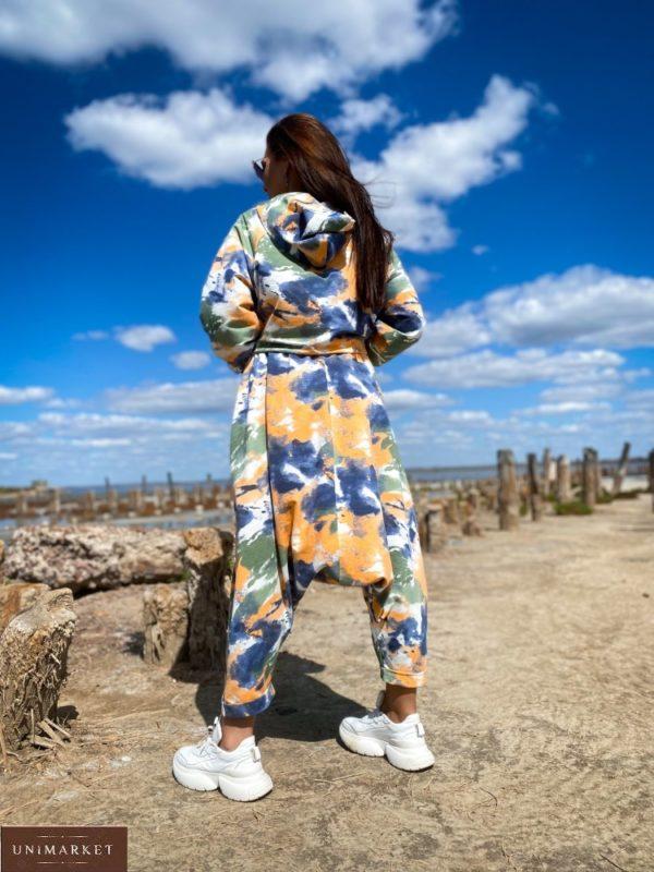 Купить по скидке оранжевые женские штаны йога оверсайз (размер 46-52)