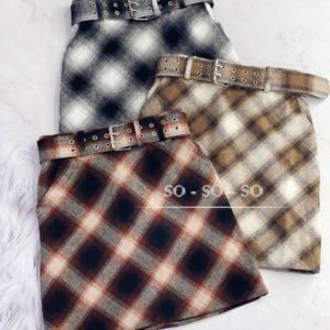 Приобрести выгодно женскую юбку из твида на подкладке с поясом серую, беж, бордо