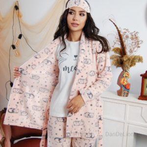 Купить онлайн женский спальный комплект тройка с повязкой (размер 42-50) для женщин