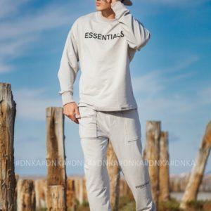 Купити сірий чоловічий спортивний костюм essentials (розмір 48-56) онлайн