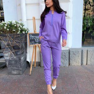 Купить по скидке лиловый костюм: кофта с брюками на резинке (размер 42-56) для женщин