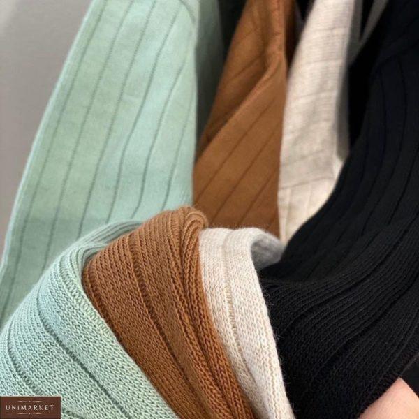 Заказать серый, черный свободный вязаный костюм онлайн для женщин