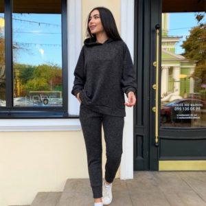 Купить черный женский костюм из ангоры на флисе (размер 42-56) в Украине