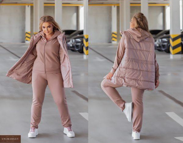 Купить недорого пудра женский костюм с жилеткой (размер 44-54)