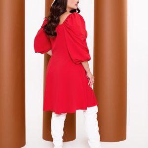 Заказать красное платье с объемными рукавами (размер 42-52) в интернете для женщин
