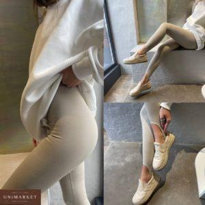 приобрести женские леггинсы цвета белый песок по доступной стоимости в онлайне